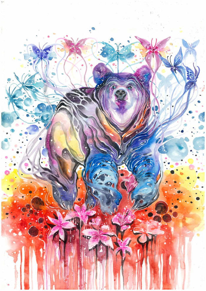 My-Emotional-Feeling-Lead-Me-To-Paint-Animal-Illustration-In-Watercolor5__700