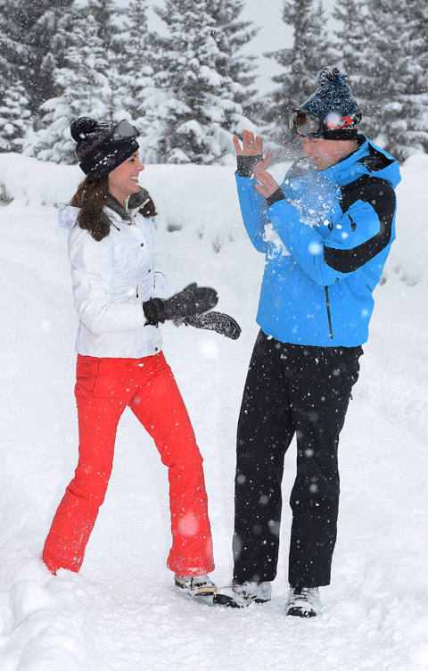 FRENCH ALPS, FRANCE - MARCH 3: (NEWS EDITORIAL USE ONLY. NO COMMERCIAL USE. NO MERCHANDISING) Catherine, Duchess of Cambridge and Prince William, Duke of Cambridge enjoy a short private skiing break on March 3, 2016 in the French Alps, France. (Photo by John Stillwell - WPA Pool/Getty Images) (TERMS OF RELEASE - News editorial use only - it being acknowledged that news editorial use includes newspapers, newspaper supplements, editorial websites, books, broadcast news media and magazines, but not (by way of example) calendars or posters.)