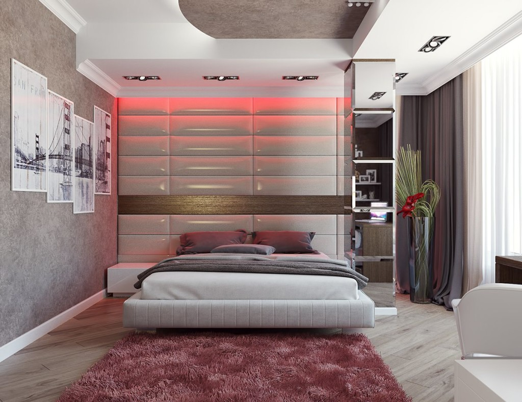 pale-red-bedroom-theme