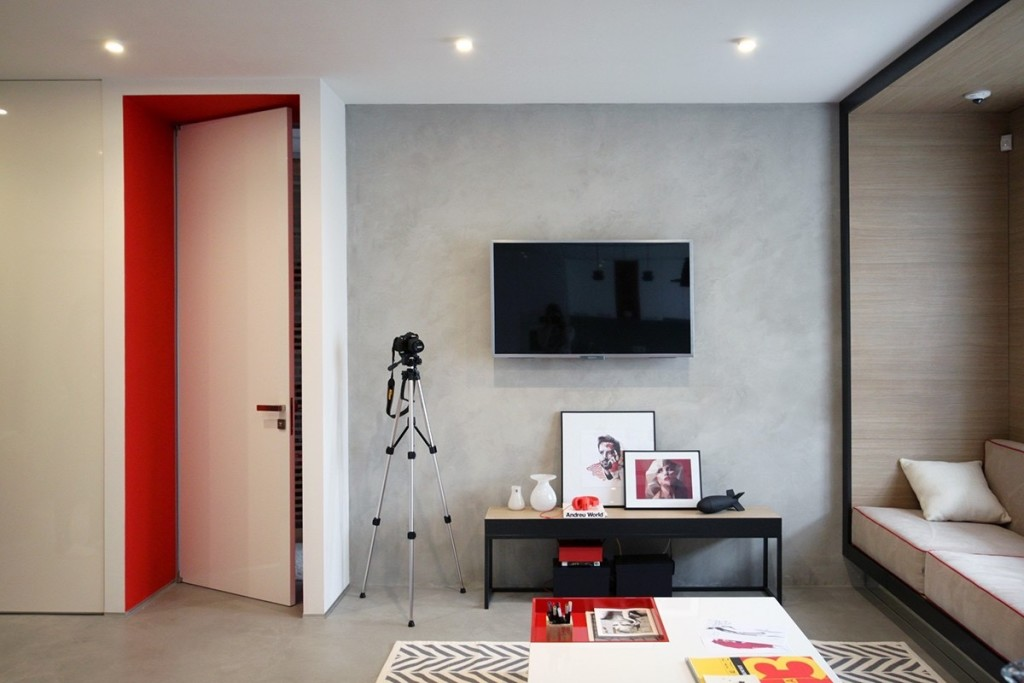 stylish-red-and-concrete-apartment