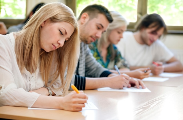 students take the test