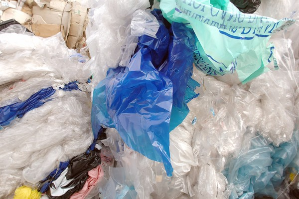 (FILES) -- A file picture taken on October 17, 2005 shows used plastic bags in plastic bag salvage container in a hypermarket near Lyon, central-eastern France. The French National Assembly passed a law in 2005 banning the commercialisation and distribution of non-biodegradable plastic bags, which took effect in 2010. In an article published by AFP on January 13, 2014, French socialist MP Arnaud Leroy said he hoped that a law he submitted in early 2013 banning plastic bags treated to be biodegradable would be examined before June. AFP PHOTO / JEAN-PHILIPPE KSIAZEKJEAN-PHILIPPE KSIAZEK/AFP/Getty Images ** OUTS - ELSENT, FPG, TCN - OUTS * NM, PH, VA if sourced by CT, LA or MoD **
