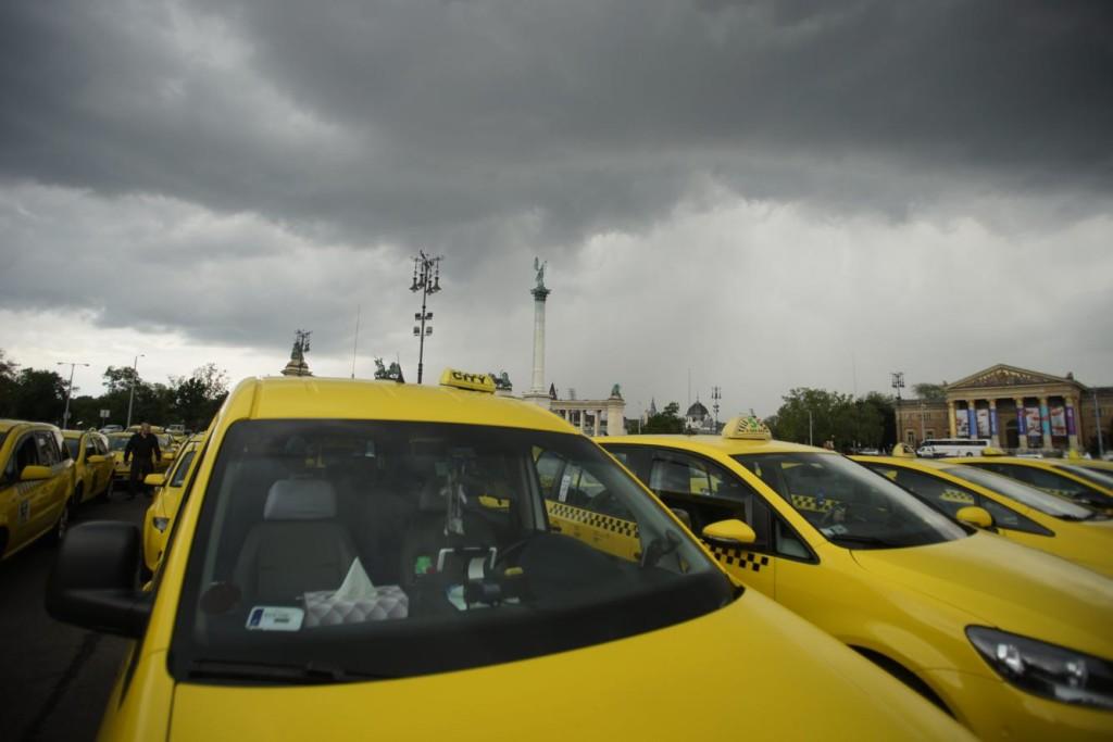 Taxis demonstráció Budapesten