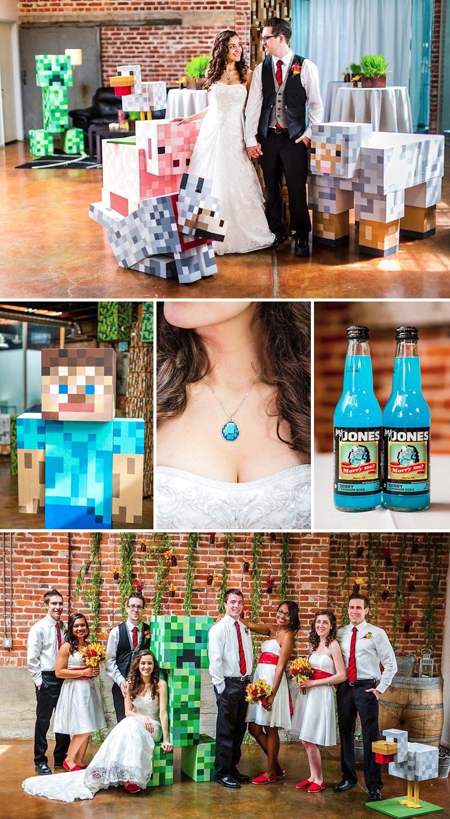 Minecraft esküvő