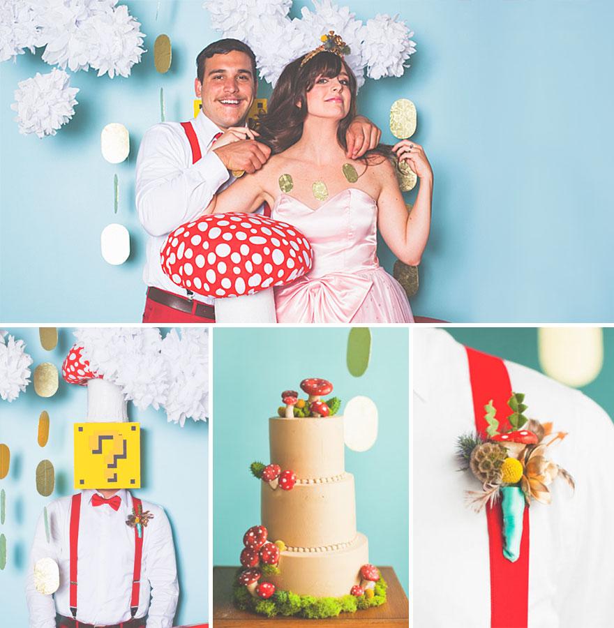 Super Mario esküvő