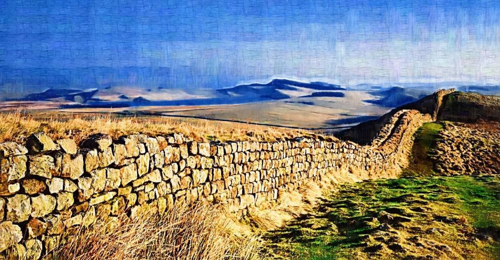 Hadrianus fala Nagy-Britanniában. Egy ideig megvédte a Birodalmat. De a Birodalom akkor már menthetetlen volt.