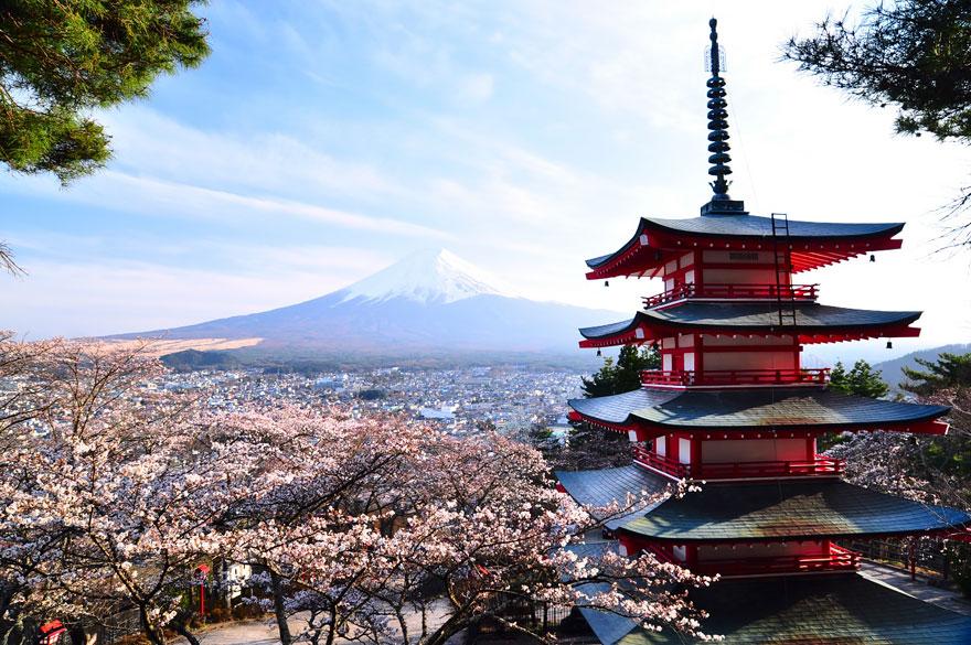 Chureito Pagoda és a Fuji