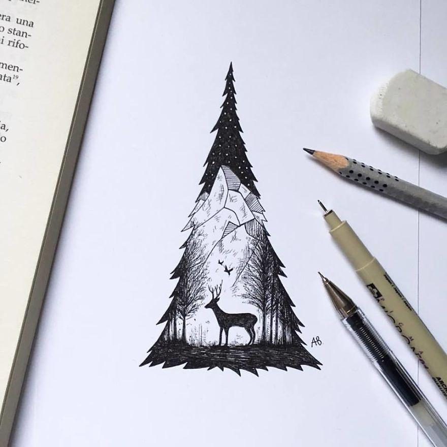 Alfred-Basha-Deer-illustration-ink-57266eaf41266__880
