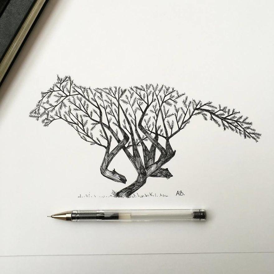 Alfred-Basha-Wolf-ink-illustration-57266ed4c8353__880