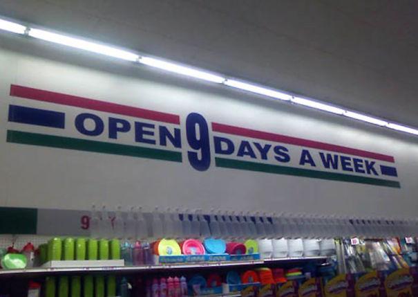 Nyitva vagyunk a hét kilenc napján!