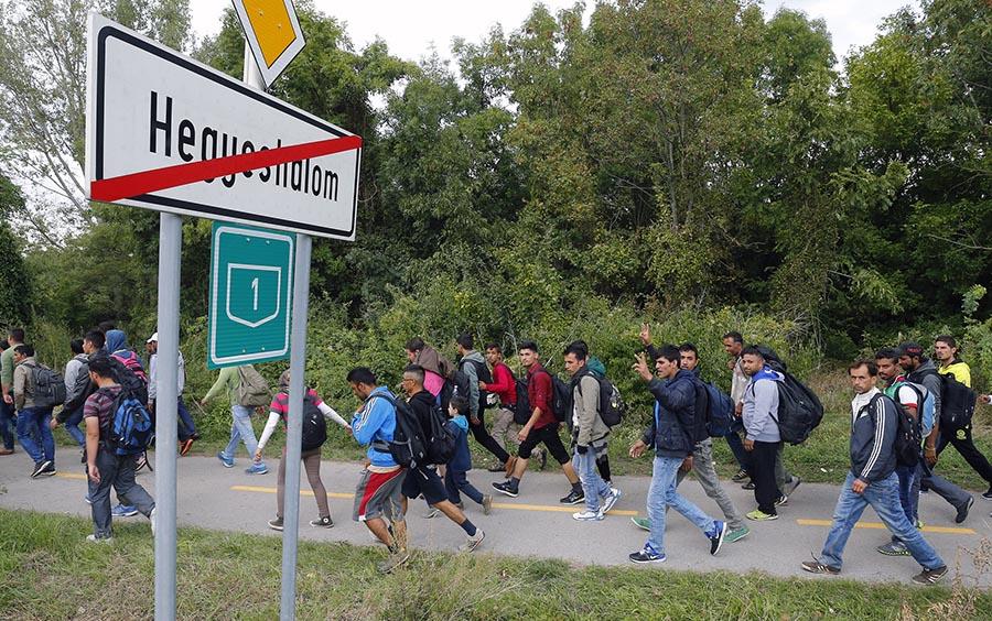 hegyeshalom-migránsok
