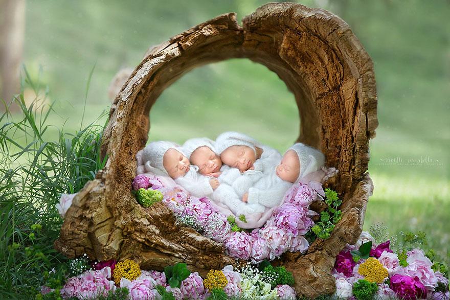 identical-quadruplet-newborn-photography-baby-photoshoot-noelle-mirabella-1