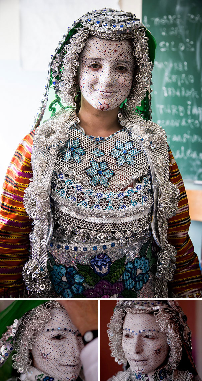 Menyasszony Gorából, amely Koszovó és Macedónia között található