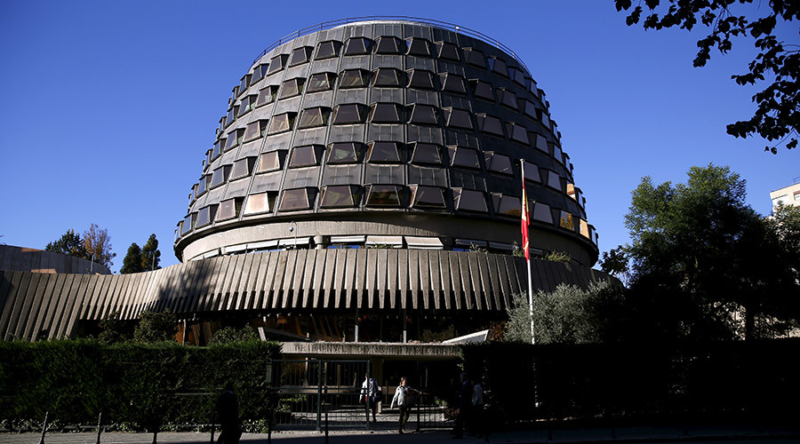 Spanish Constitutional Court building is seen in Madrid