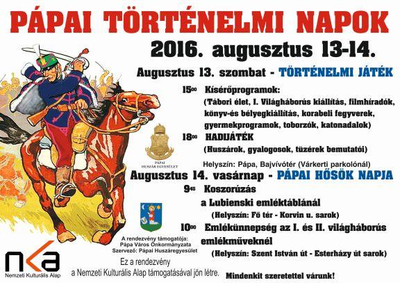 15. Pápai Történelmi Napok