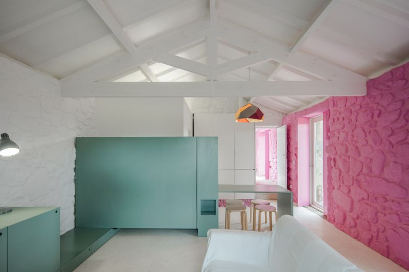 Modern-barn-house-pink-and-turquoise