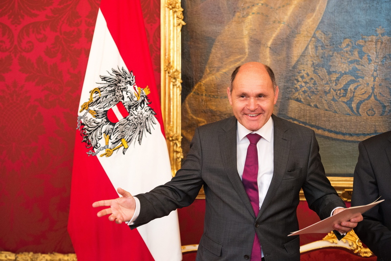 Inauguration of Federal Interior Minister Sobotka