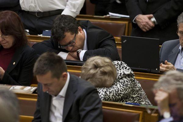 Egy elcsépelt, vicces netes kép. Fáradt képviselők. Tisztelet a kivételnek.