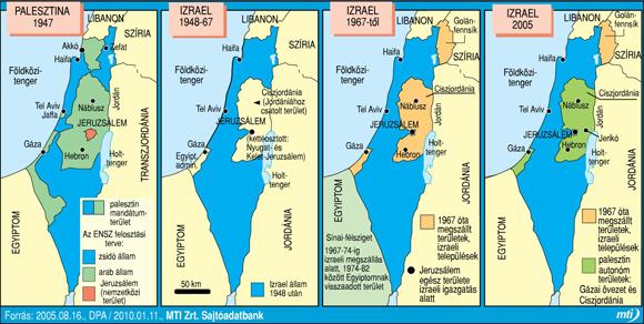 Izrael_terkep