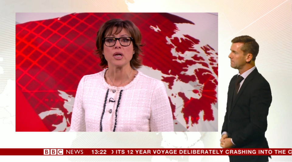 BBC1 news at one presenter Kate Silverton was in tears after a report about a Syrian baby being pulled from the rubble of a bombed building