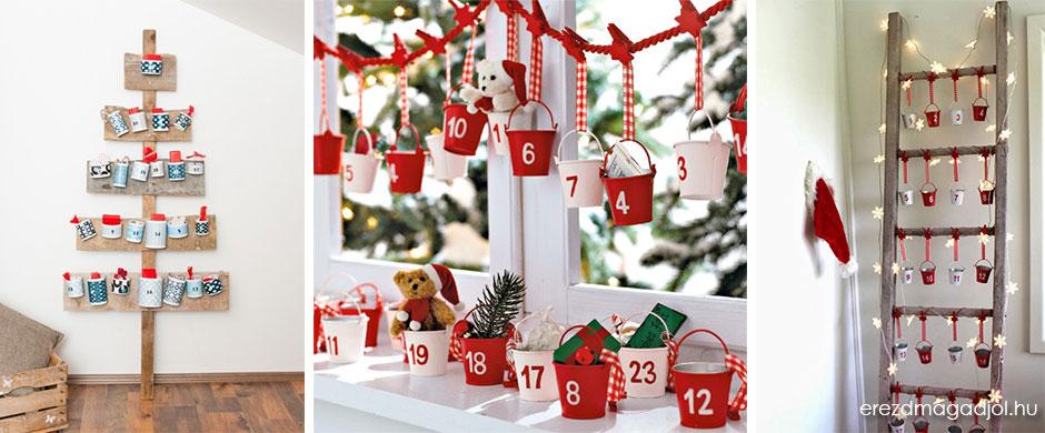 adventi naptár házilag Kreatív adventi naptárak, az örömteli várakozáshoz | Hír.ma adventi naptár házilag
